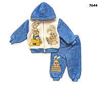 """Махровый костюм """"Кролики"""" для мальчика.  2 года"""
