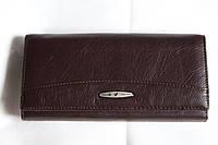 Кожаный стильный кошелек коричневого цвета TAILIAN