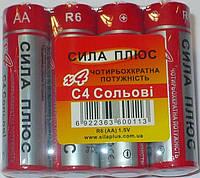 Батарейки Сила плюс АА, R6, цена за 1 шт.