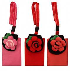 Чехол для мобильного телефона мягкий Цветы 8х11 см, ассорти