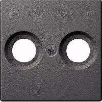 Накладка ТВ-розетки двойной Merten System-M антрацит