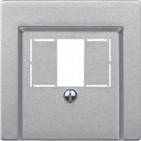 Накладка аудио и USB розетки Merten System-M алюминий