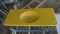 Умывальник  из литьевого мрамора (желтый)