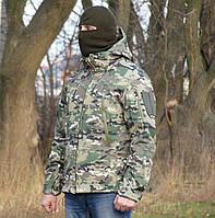 Куртка камуфлированная. Ткань hardshell (ветровлагозащитная), фото 1