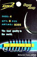 Крючок BKK Сarp 8355 № 4, 8 шт кованный