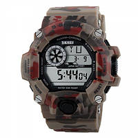 Часы Skmei 1019 Red Camouflage