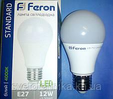 Светодиодная лампа типа А60 Feron LB702 12W 4000K  для общего и декоративного освещения