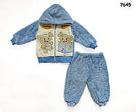 """Махровый костюм """"Слоники"""" для мальчика. 3 года, фото 1"""