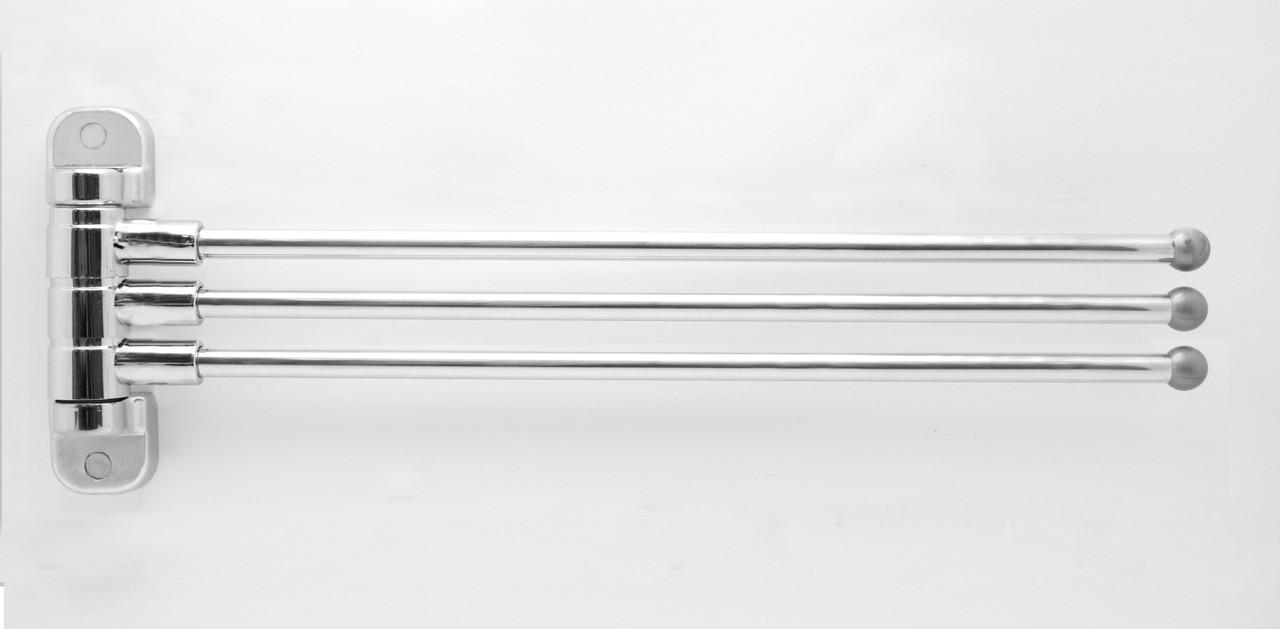 Вешалка для полотенец тройная поворотная CA 03