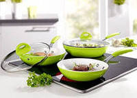 Новое поступления в нашем Магазине Сковородки Биолюкс Керама 3 шт. в комплекте