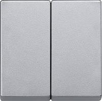 Двойная клавиша Merten System-M алюминий