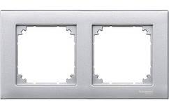 Рамка 2-поста Merten M-Plan алюминий