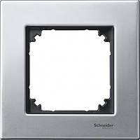 Рамка 1-пост Merten M-Elegance платина-серебро