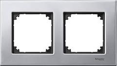 Рамка 2-поста Merten M-Elegance платина-серебро