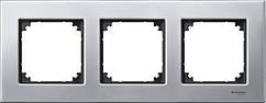 Рамка 3-поста Merten M-Elegance платина-серебро