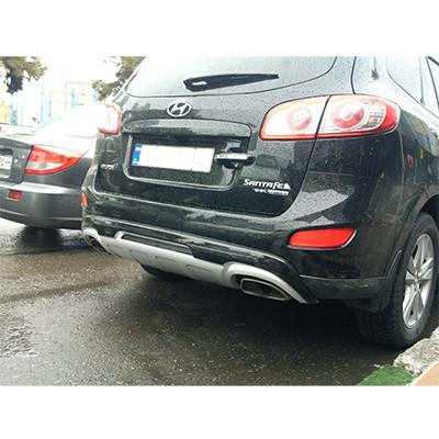 Накладка на бампер Hyundai Santa Fe 2010-2012 - AEROKLAS Ukraine в Киеве