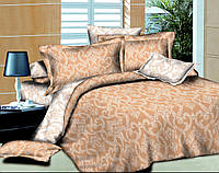 Семейный комплект постельного белья Ажур Беж