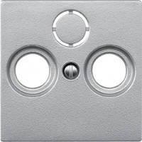 Накладка ТВ-розетки двойной/тройной Merten System-M алюминий