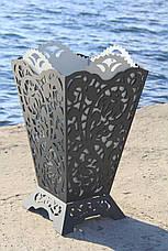 Урна садовая  / вазон уличный из металла, фото 2