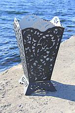Урна садовая  / вазон уличный из металла, фото 3