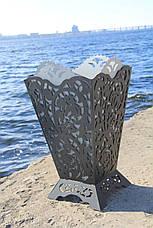 Урна садовая декоративная из металла, фото 3