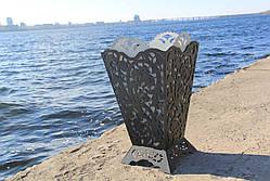 Урна садовая декоративнаяиз металла, фото 3