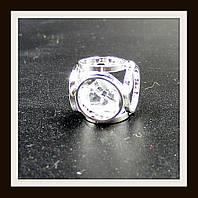 "Кулон метал. ""куб серебряный"" 1*1 см"