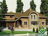 Строительство дома из сип панелей 318,34 м.кв., «БЕСКИД»