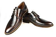 Мужские туфли кожаные  faro 186.2 черные   весенние , фото 1