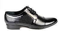 Мужские туфли кожаные  faro 05.31.81 черные   весенние