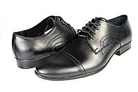 Мужские туфли кожаные  faro 514.00 черные   весенние