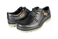 Мужские туфли кожаные  mida 11825ч черные   весенние , фото 1