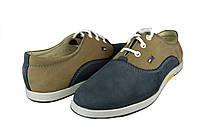 Мужские туфли mida 11234кум песочные   весенние