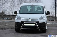 Peugeot Partner Tepee 2008+ г Кенгурятник WT022 (нерж.)