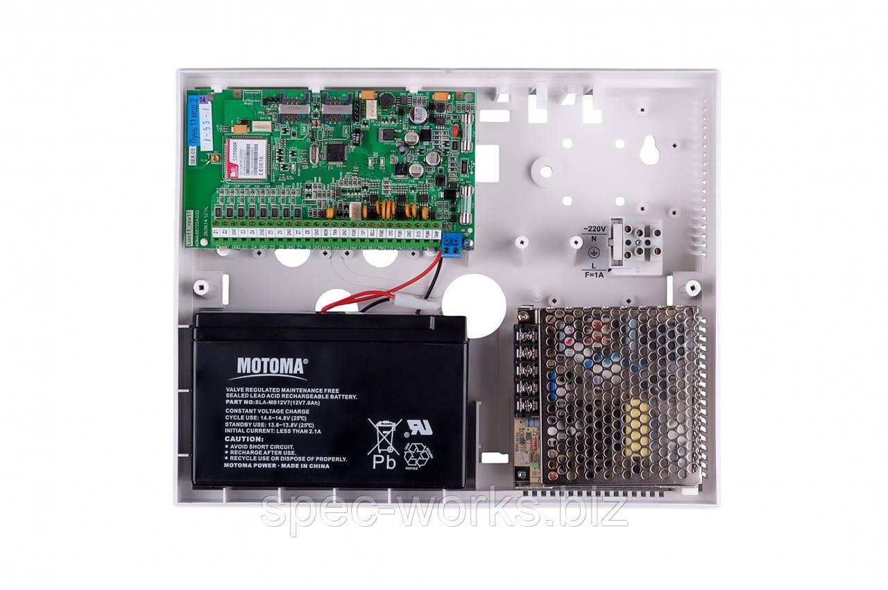 Центральный прибор ППКП Лунь-11 беспроводного канала связи GSM