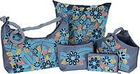 Наборы для вышивки бисером и пайетками - сумки, косметички, подушки, мягкие корзинки
