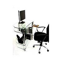 Компьютерный стол из прозрачного стекла