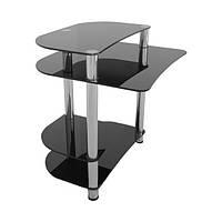 Компьютерный стол из черного (покраска) стекла Смолли