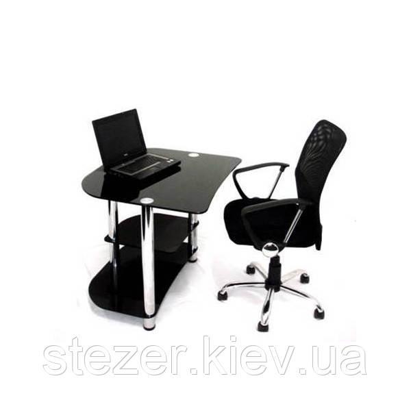 Компьютерный стол из черного (покраска) стекла Вадс