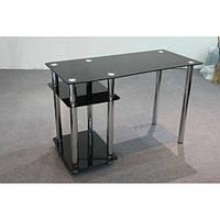 Компьютерный стол из черного стекла Симпле