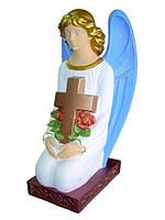 Скульптуры на кладбище. Ангел с крестом из бетона 82 см, фото 1