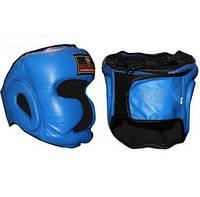 Шлем боксерский с полной защитой Кожа ZEL