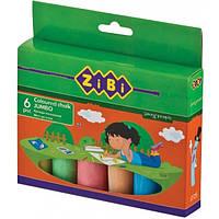 Мел Zibi цветной 6 шт JUMBO, картонная коробка (ZB.6710-99)