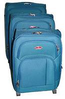 Чемодан Suitcase на двух колесах голубой маленький