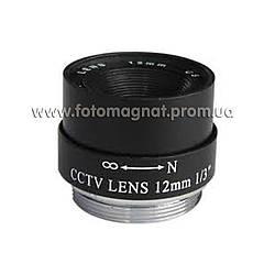 Объектив для камеры видеонаблюдения 4мм,6мм,12,глазок 40(объектив камеры)