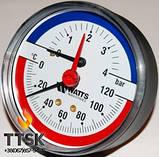 """Термоманометр аксиальный TIM 80 1/2"""", 0-6бар, 120 гр Watts, фото 2"""