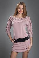 Туника женская мод 149,размер 44,46 серая