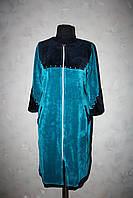Женский велюровый халат под пояс