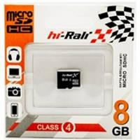 Micro SDHC карта памяти HI-RALI 8GB class 4 (без адаптера)