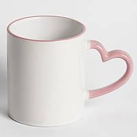 Чашка сублимационная цветная LOVE Розовая